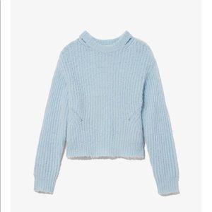 Proenza Schouler WHT LBL Brushed Alpaca Sweater